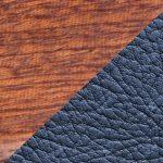 Acajou & cuir bleu