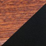 Bois d'acajou & cuir Noir