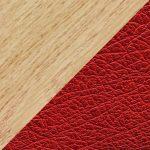 Bois de hêtre & cuir rouge